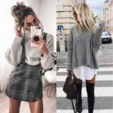 Серый свитер: модные идеи для создания идеального образа